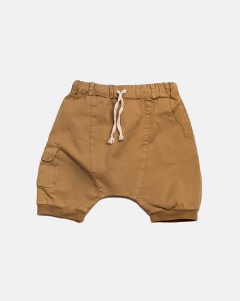 POCKET SHORTS musztarda
