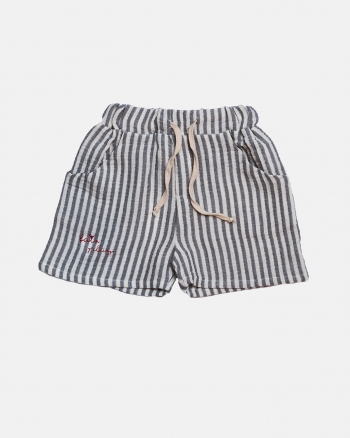 STRIPED SHORTS szary/ecru