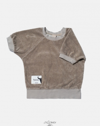 SHORT TERRY SWEATSHIRT beige