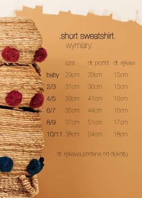 SHORT TERRY SWEATSHIRT beige