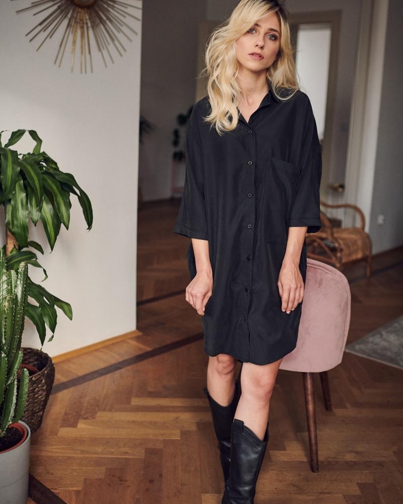KIMONO DRESS  czarny