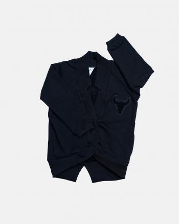 Cardigan swatshirt / czarny