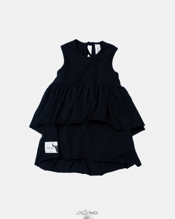 WAVE DRESS black