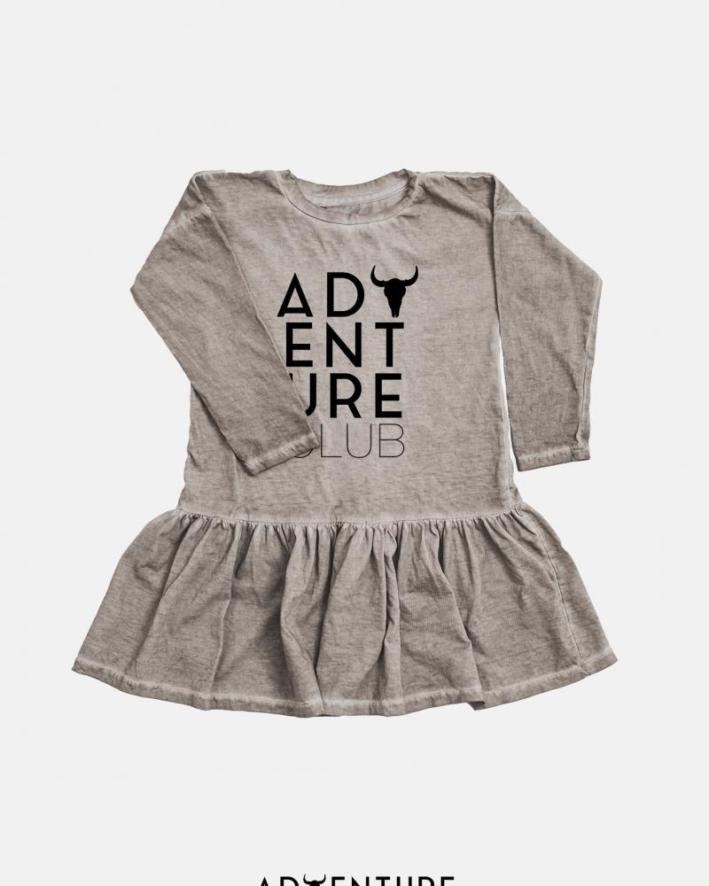 Big adventure dress/ beż