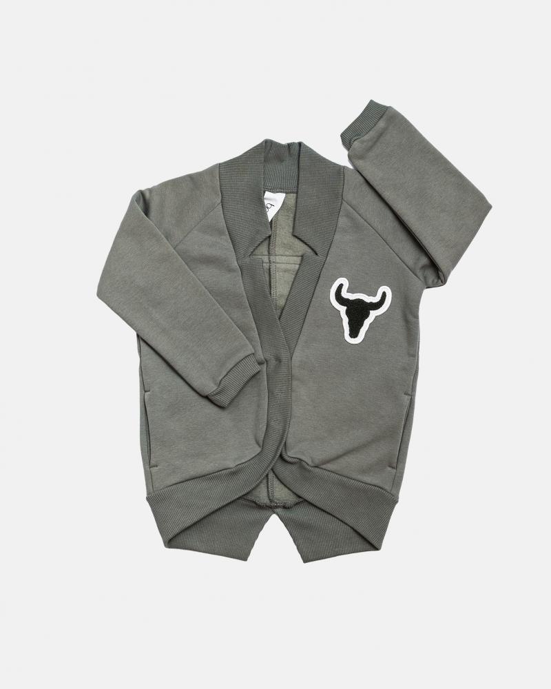 Cardigan swatshirt / zieleń