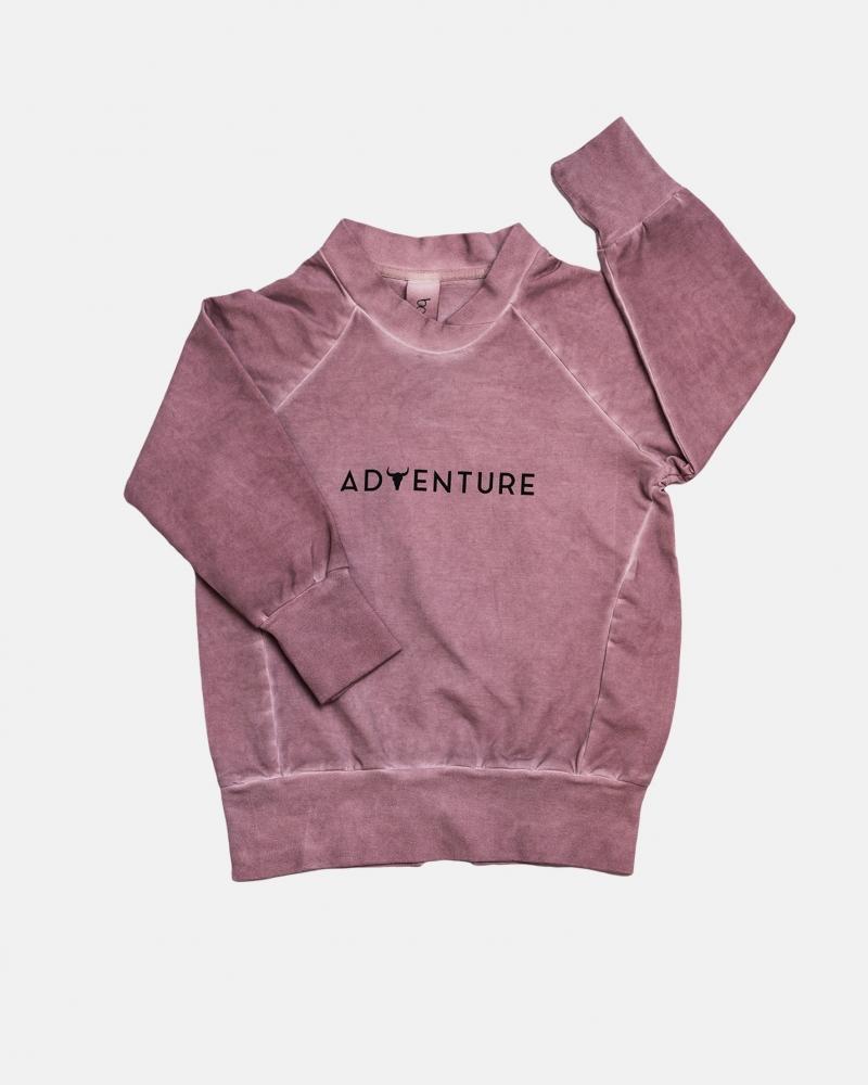 Adventure hoodie/ dusty pink