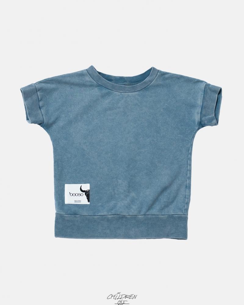 SHORT SWEATSHIRT light blue