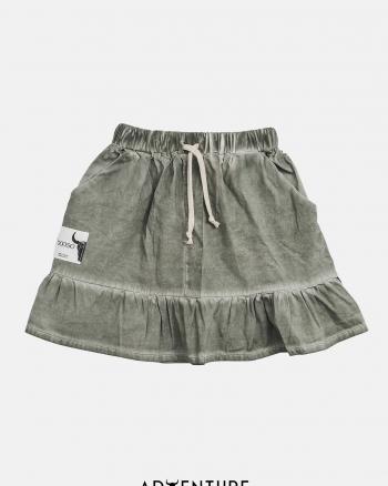 Frill skirt/ ciemna zieleń