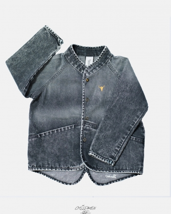 JEANS JACKET czarny denim