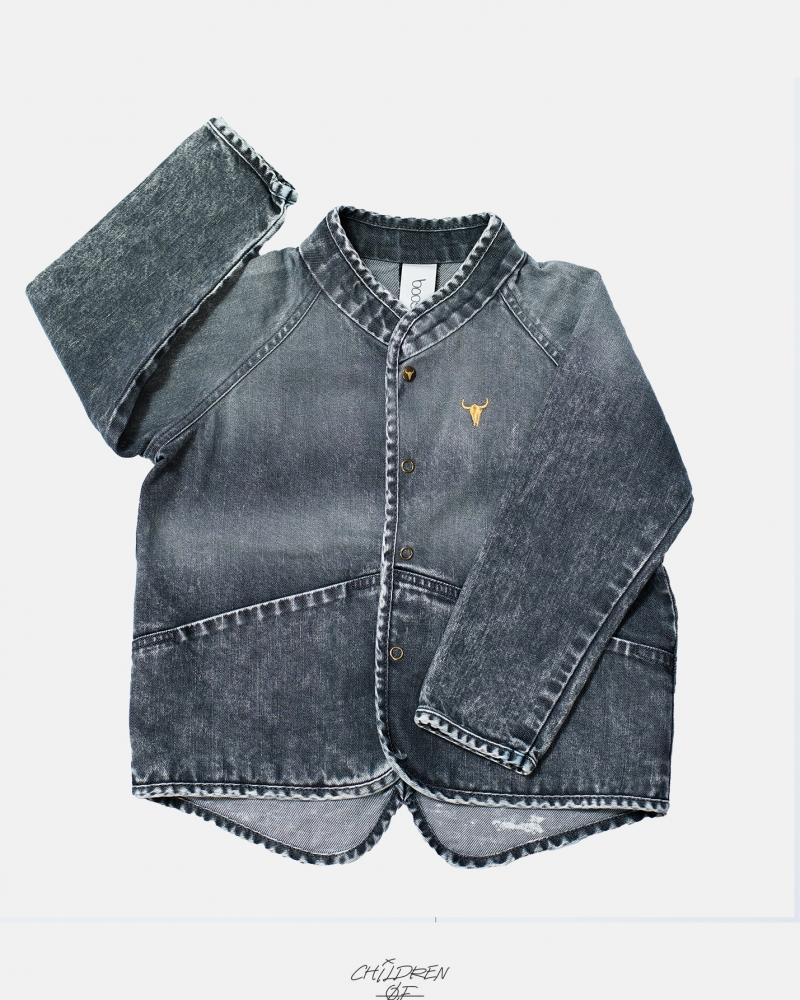 JEANS JACKET black jeans