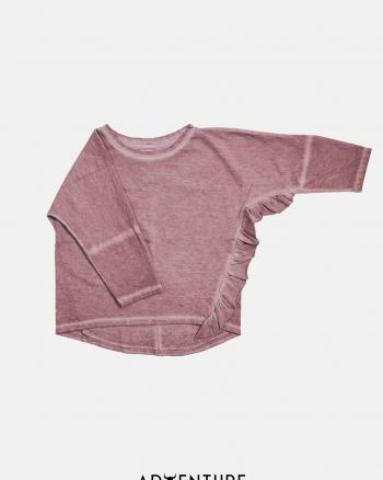 Frill longsleeve /dusty pink