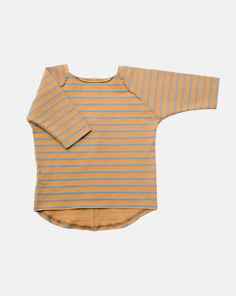 STRIPED TEE blue/mustard