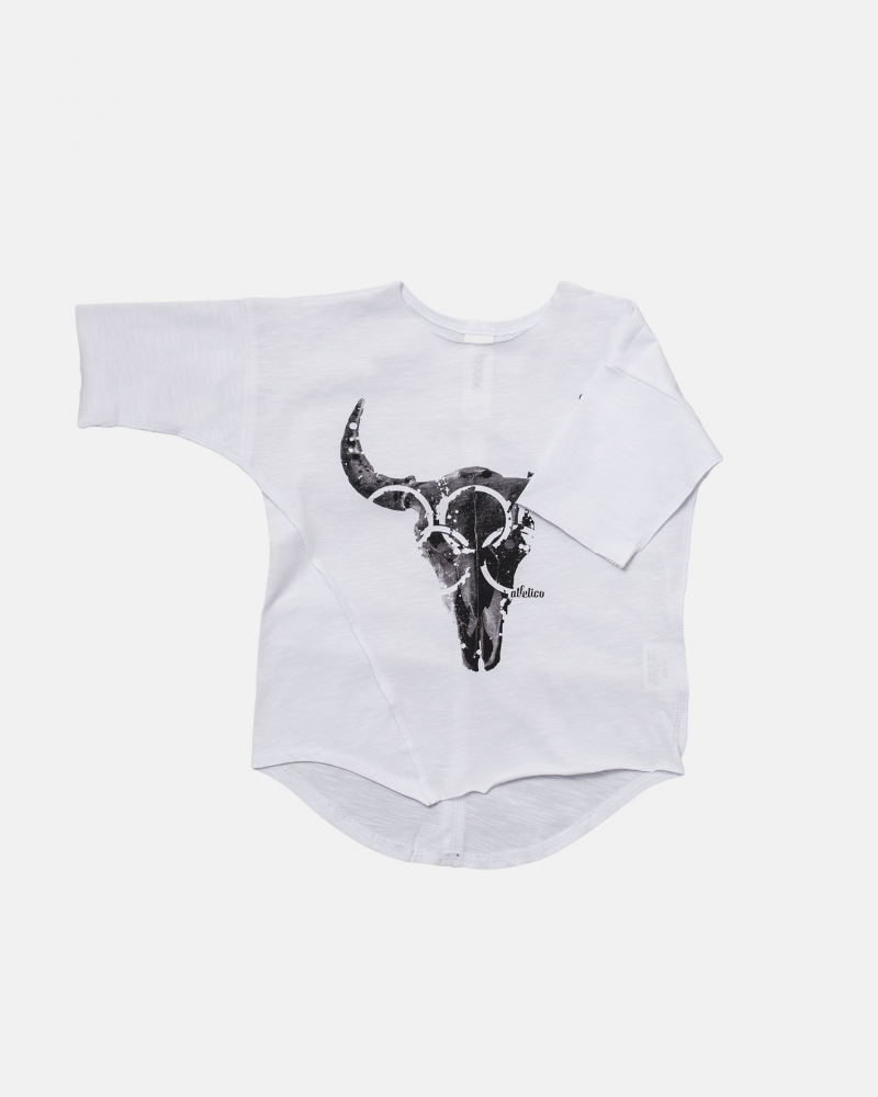 BISON TEE white