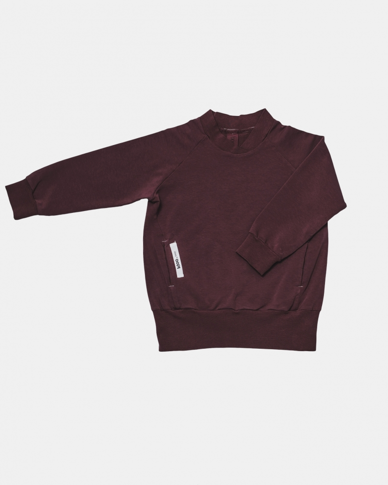 FEEL SWEATSHIRT burgund