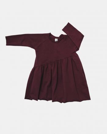 WAVE DRESS burgund
