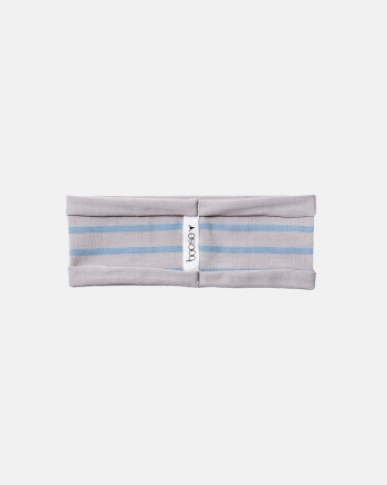 STRIPED HEADBAND blue/gray