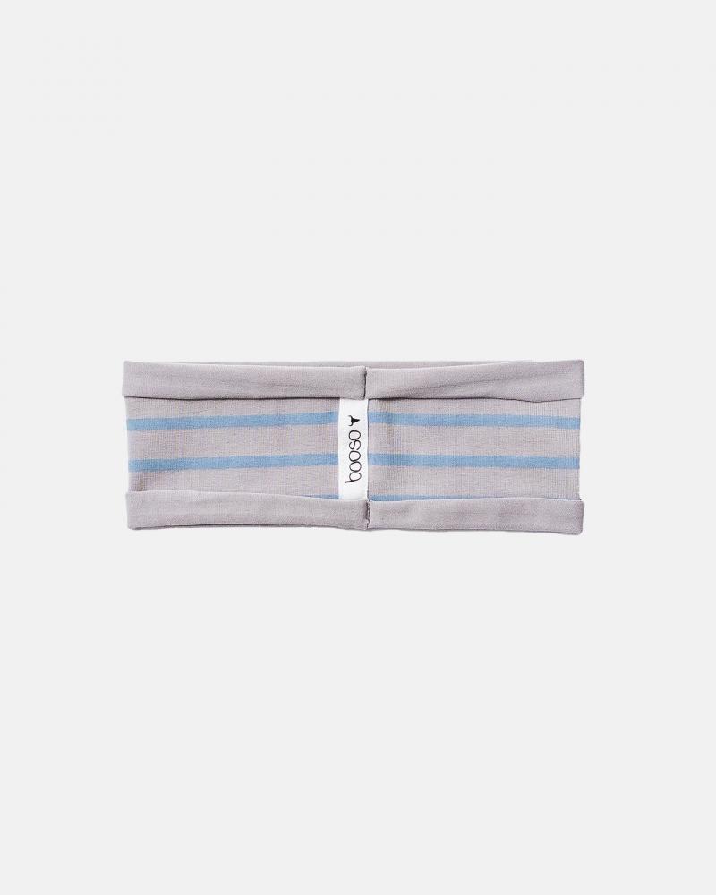 STRIPED HEADBAND blue/gray