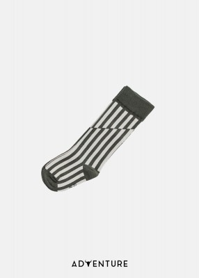 SOCKS STRIPED zieleń/ecru