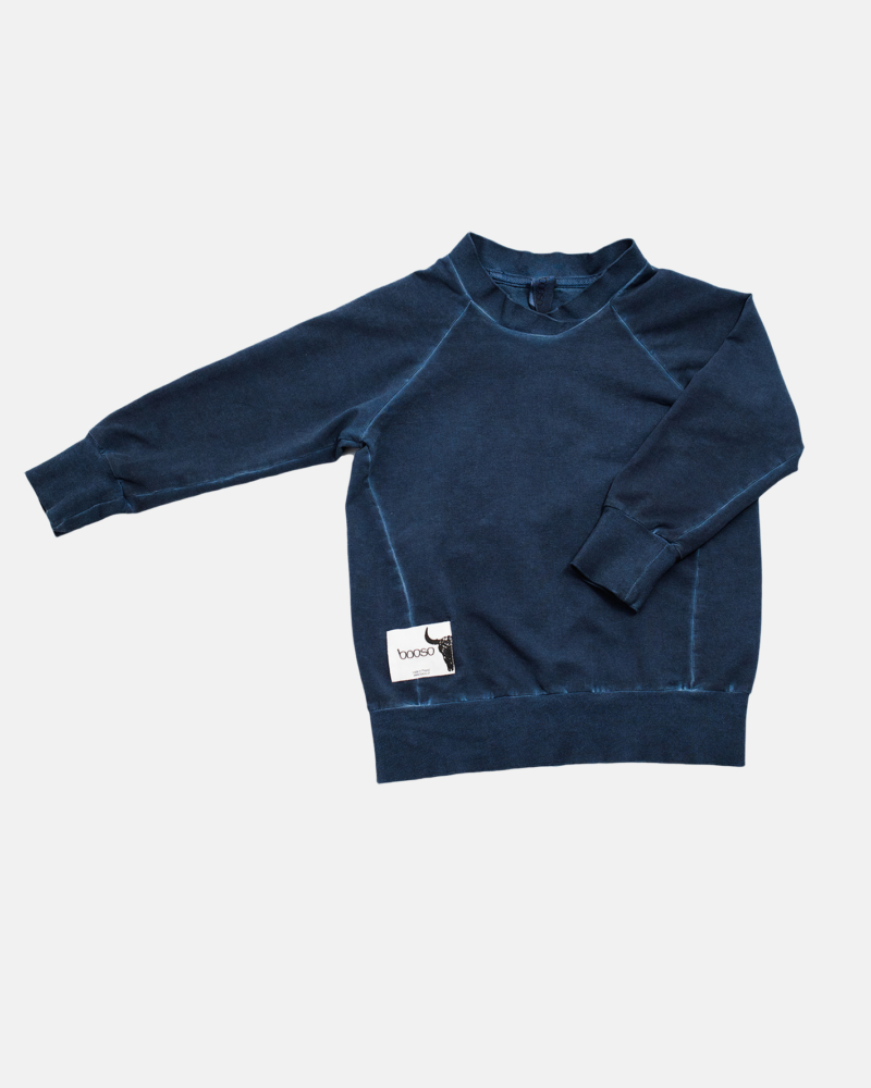 COLDDYE SWEATSHIRT navy
