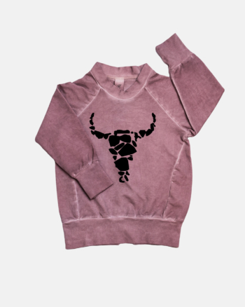 COLDDYE BISON SWEATSHIRT DUSTY PINK