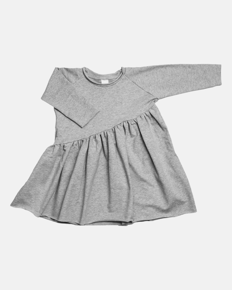 BEVEL DRESS gray marl