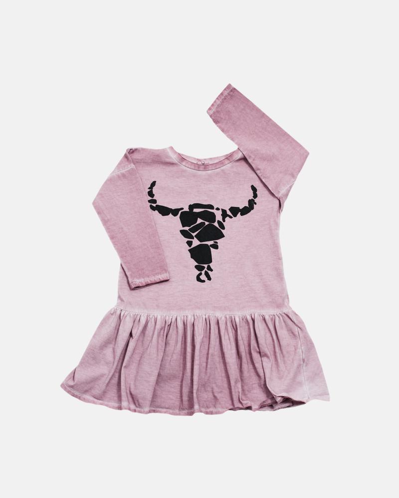 LONG BISON DRESS dusty pink