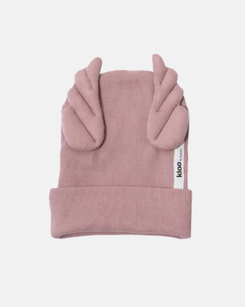 RIBBING BEANIE WINGS dusty pink