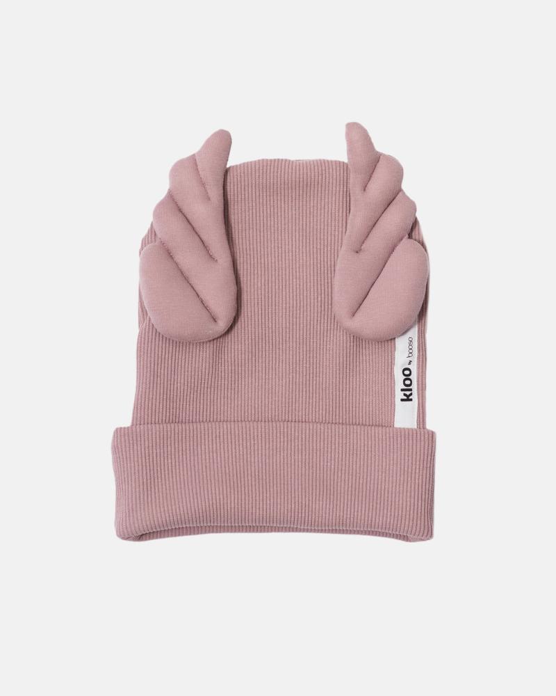 RIBBING BEANIE WINGS dusty pink