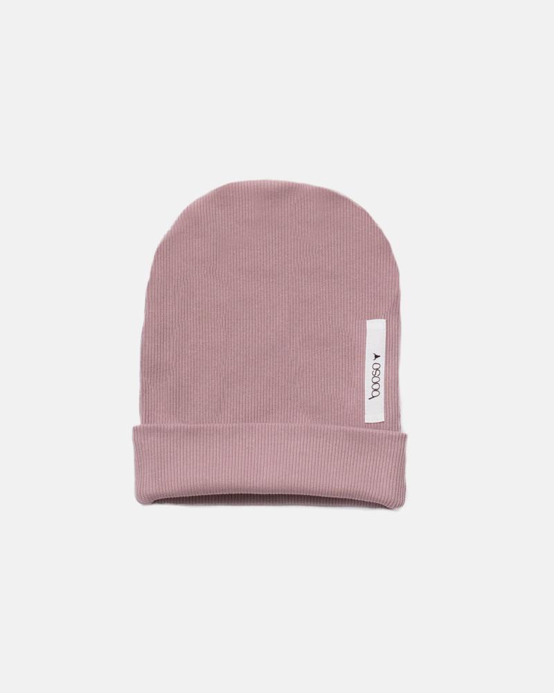 RIBBING BEANIE dusty pink