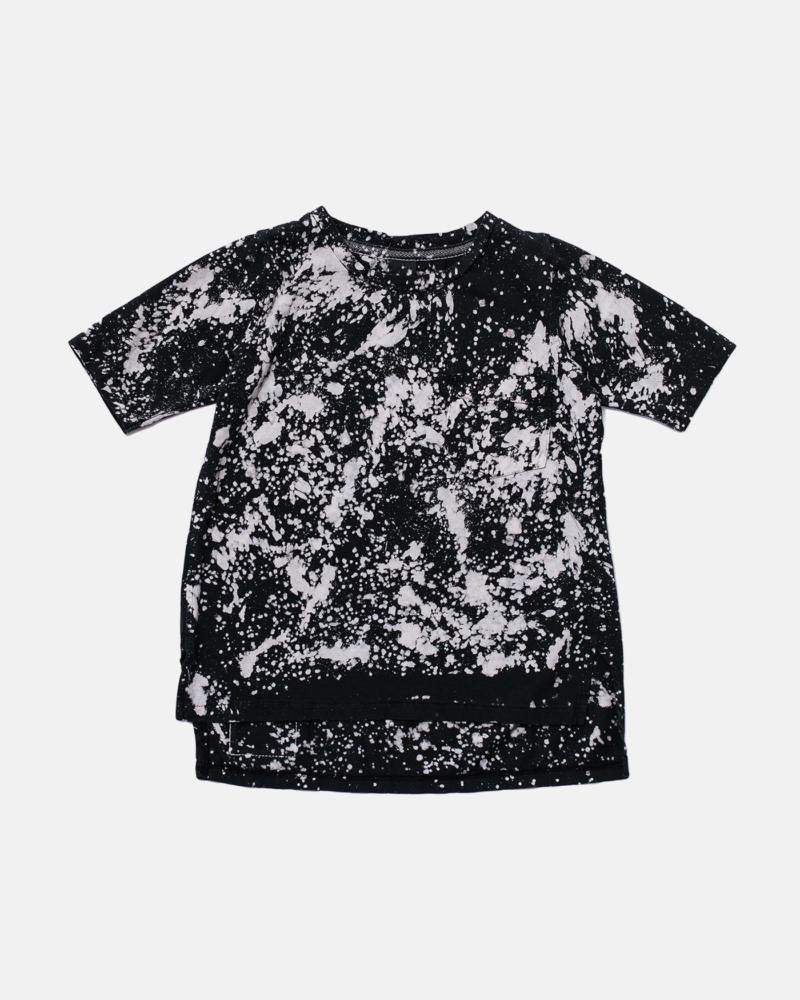 LONGBACK BATIC TEE black/ecru