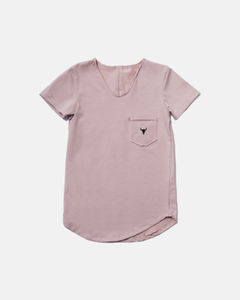 SIMPLE TEE pink mini bison