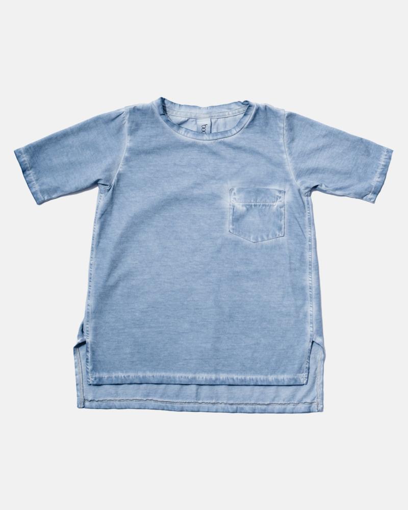 LONGBACK COLDDYE TEE blue