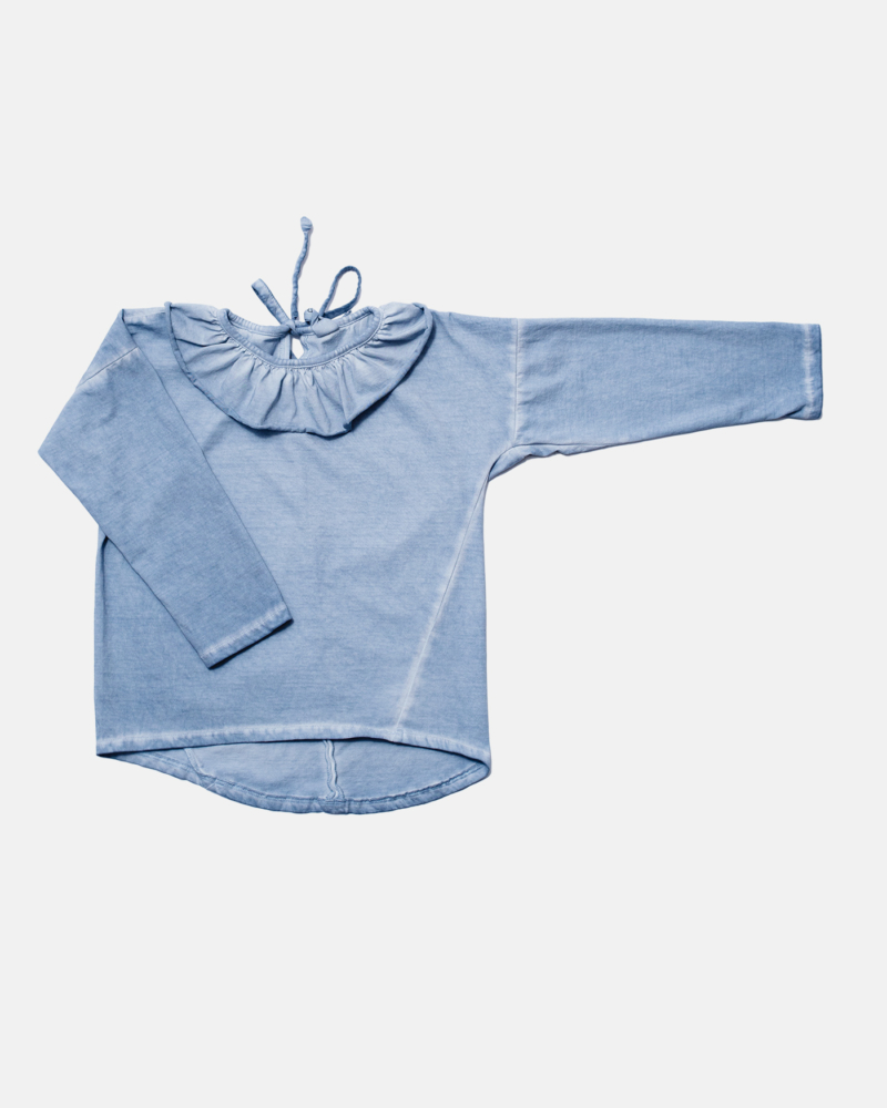 COLLAR COLDDYE LONGSLEEVE blue