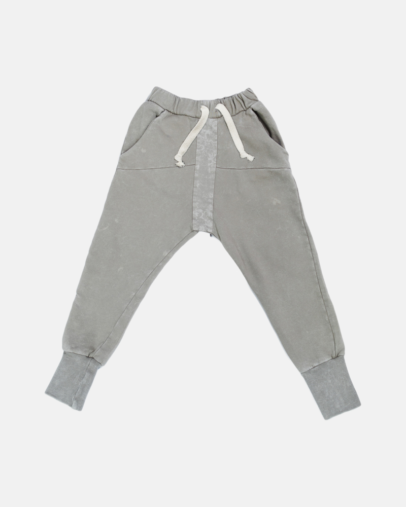 STRIPED ACID PANTS gray