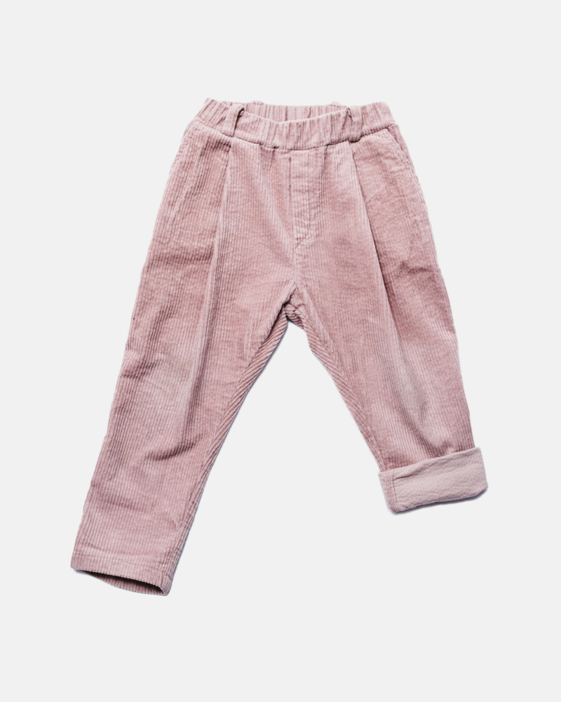 CORDUROY PANTS dusty pink