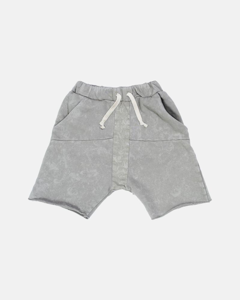 STRIPED ACID SHORTS gray