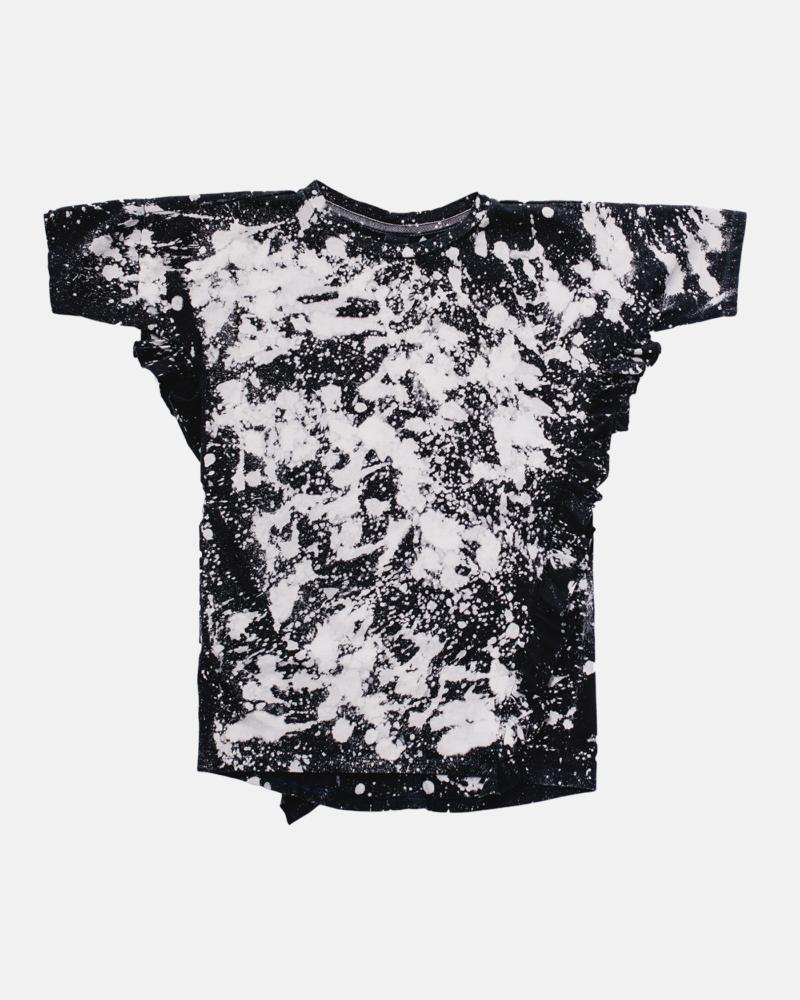 FRILL BATIC DRESS black/ecru