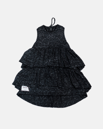 WAVE DRESS BLACK MARL