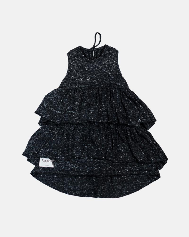 WAVE DRESS BLACK MARL