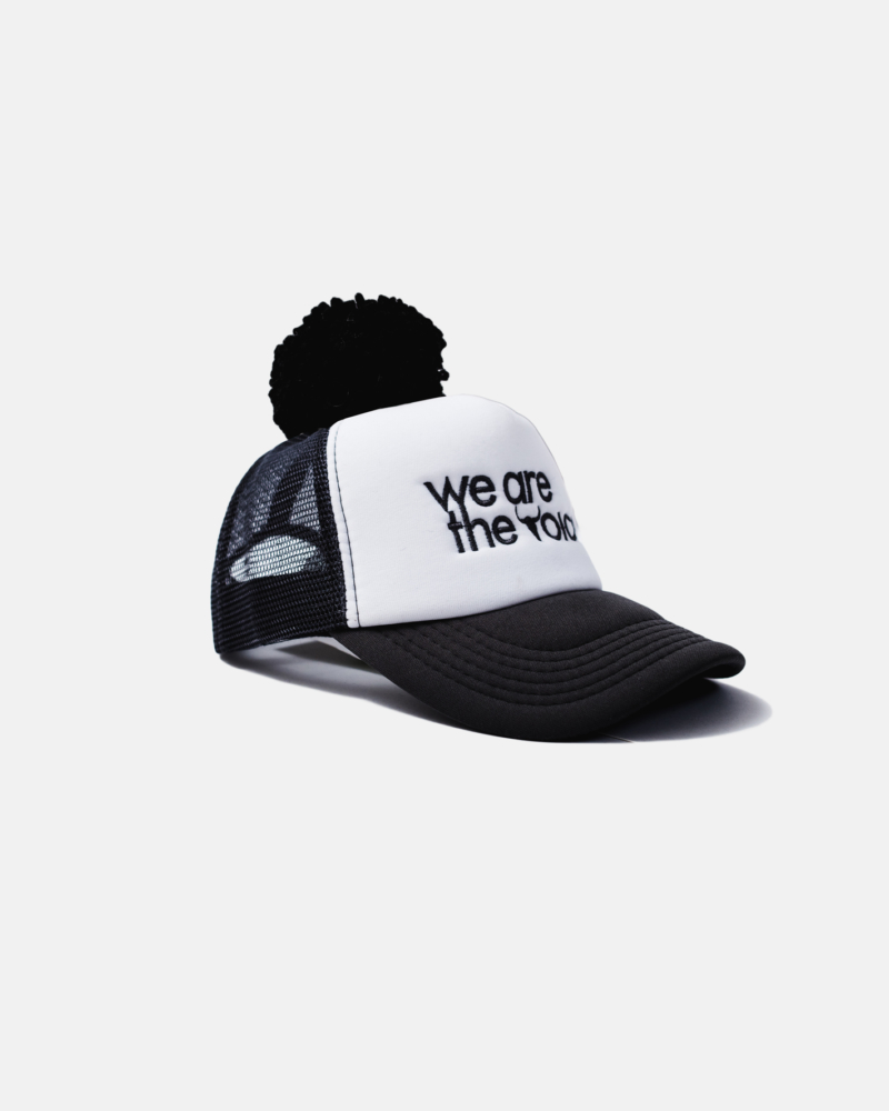 WE ARE CAP black pompom