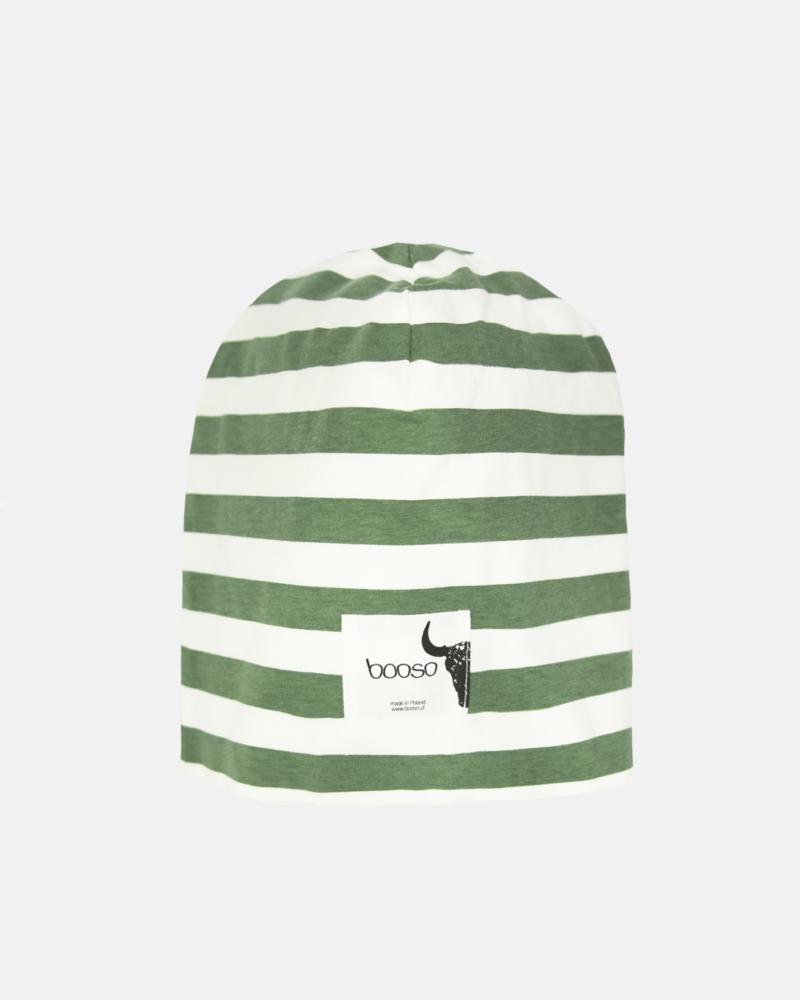 Striped Beanie ecru/zielony