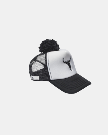 BISON CAP black/white