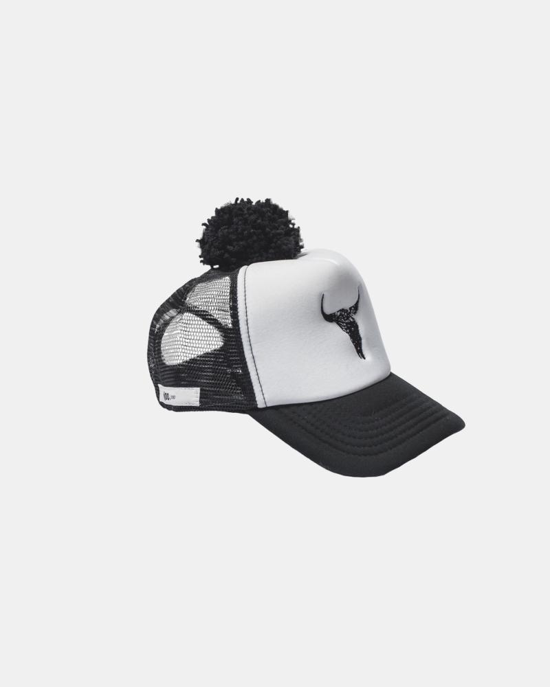 BISON CAP black/white
