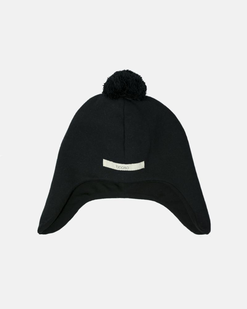 POMPOM HAT czarny
