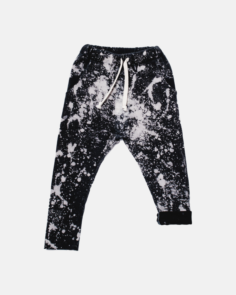 BATIC STRIPED PANTS black/ecru