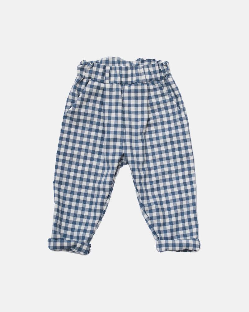 GRILLE PANTS ecru/blue
