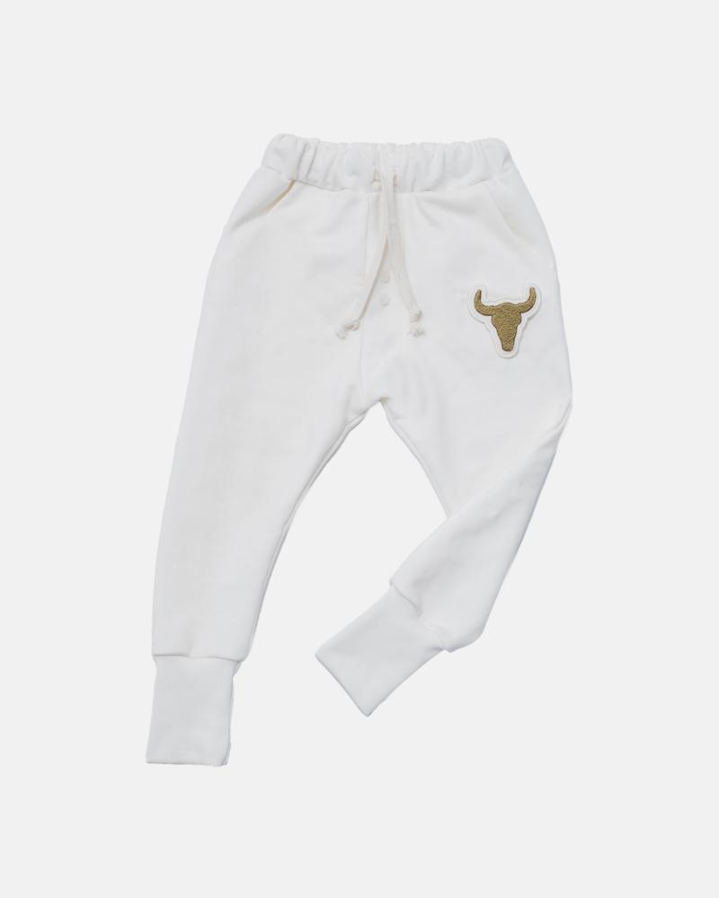 WHITE BUTTON PANTS
