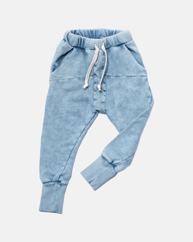 STRIPED ACID PANTS blue