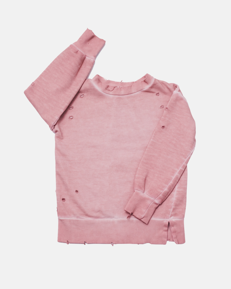 TORN SWEATSHIRT pink