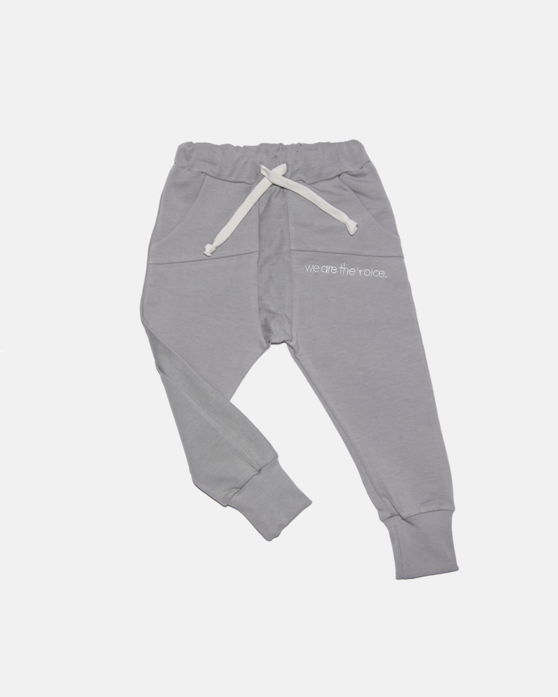 STRIPED VOICE  PANTS gray